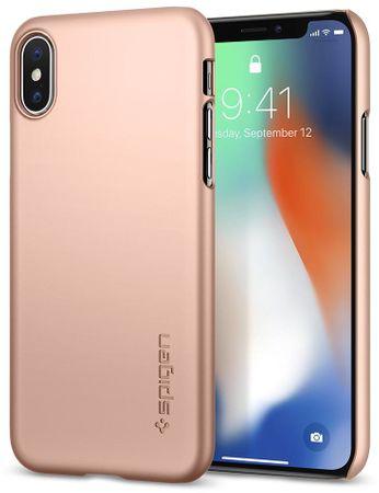 Spigen ovitek Thin Fit Blush Gold za iPhone X, zlat