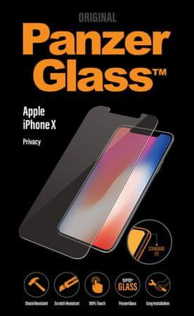 PanzerGlass zaštitno staklo Privacy za iPhone X, crno