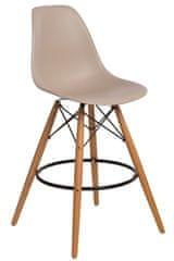 Mørtens Furniture Barová stolička s drevenou podnožou Desire