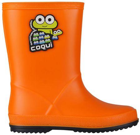 Coqui dětské holínky Rainy 28 oranžová