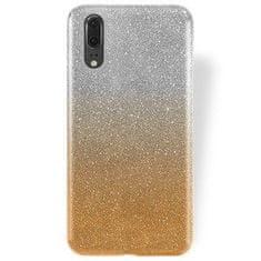 Silikonski ovitek z bleščicami Bling 2v1 za Huawei P20, srebrno zlat
