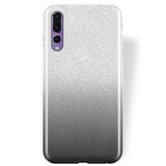 Silikonski ovitek z bleščicami Bling 2v1 za Huawei P20 Pro, srebrno siv