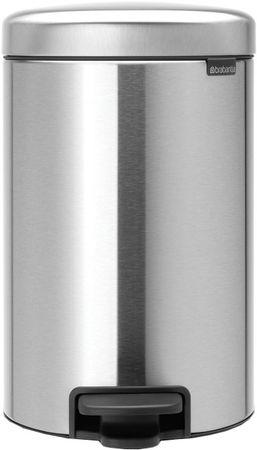 Brabantia koš za smeti, 12 L, siv