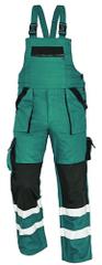 Max Montérky na traky s reflexnými pruhmi zelená/čierna 44