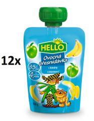 Hello Ovocná kapsička s banány 12x100g
