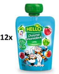 Hello Ovocná kapsička s jablky 12x100g