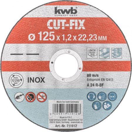 KWB daska za rezanje Cut-Fix 125x1,2 mm (711912)