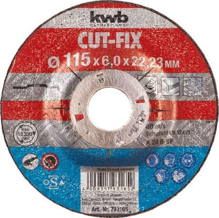 KWB brusna ploča Cut-Fix, BF 125x6 mm (793265)