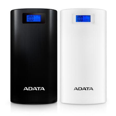 Adata P20000D Powerbank, 20000mAh, LED svítidlo, bílá AP20000D-DGT-5V-CWH
