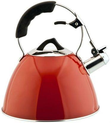 CS Solingen czajnik ze stali nierdzewnej z gwizdkiem Aquatic, 3l czerwony