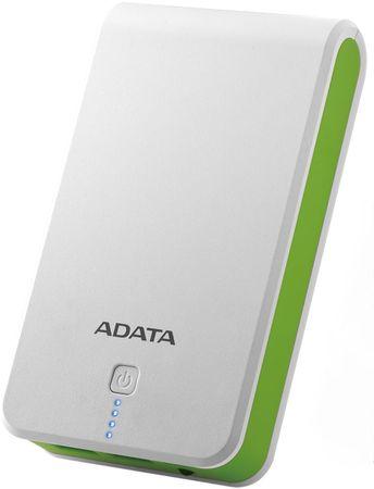 A-Data P16750 Power Bank 16750mAh, biały/zielony AP16750-5V-CWHGN
