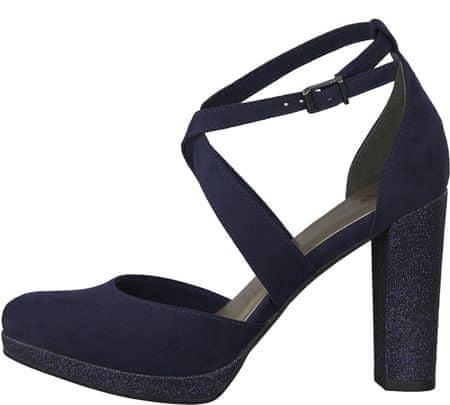 Tamaris ženski čevlji s peto, 36, temno modri