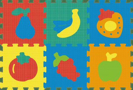 Lamps Pěnový koberec puzzle ovoce