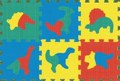 Lamps Piankowa mata puzzle dinozaury
