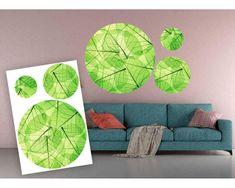 Dimex Dekoračné nálepky Listy zelené 85 x 125 cm