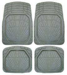 POLGUM Gumové koberce, univerzálne, sada 4 ks, šedé, rozmer: 73 x 49 a 45 x 49 cm