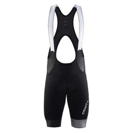 Craft moške kolesarske kratke hlače z naramnicami Verve Glow Bib Shorts M, črne, S
