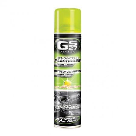 GS27 GS27 Védőszer műanyag felületek számára, fekete, fényes 400 ml