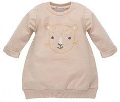 PINOKIO Dívčí šaty Sweet Panther - světle oranžové