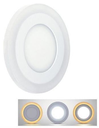 Solight LED podsvícený panel, podhledový, 12W+4W, kulatý