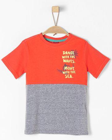 s.Oliver T-shirt chłopięcy 104/110, pomarańczowo-szary
