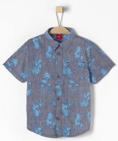 s.Oliver chlapecká košile 104 - 110 modrá
