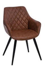 Mørtens Furniture Jedálenská stolička Fox, hnedá