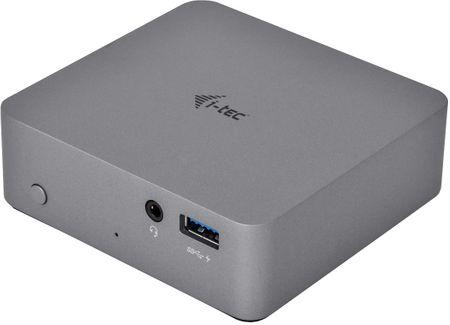 I-TEC USB-C Metal 4K Dokkoló állomás 1x HDMI 1x Ethernet 4x USB 3.0 1x USB-C PD C31METAL4KDOCKPD