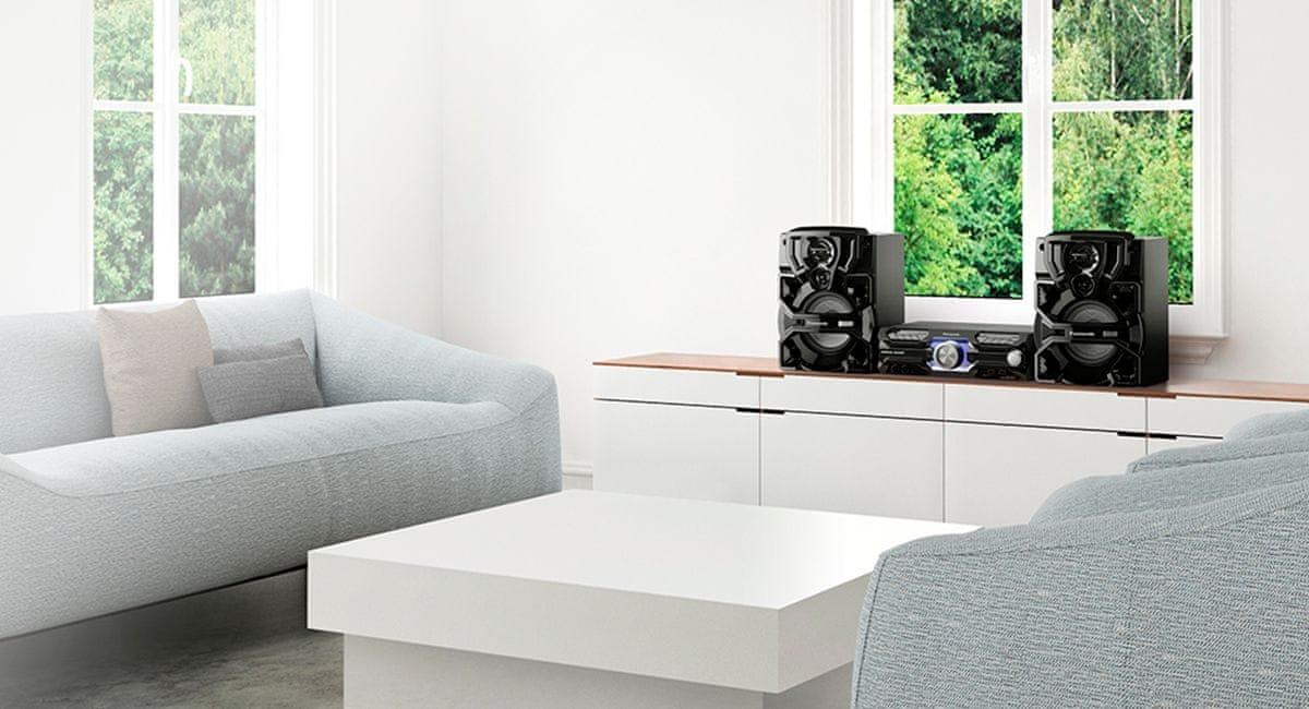Minisystém Panasonic SC-AKX710E usb vstup elegantní moderní design