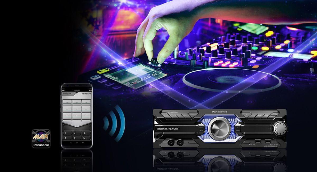 Minisystém Panasonic SC-AKX710E bezdrátové připojení streamování ze smartphonu