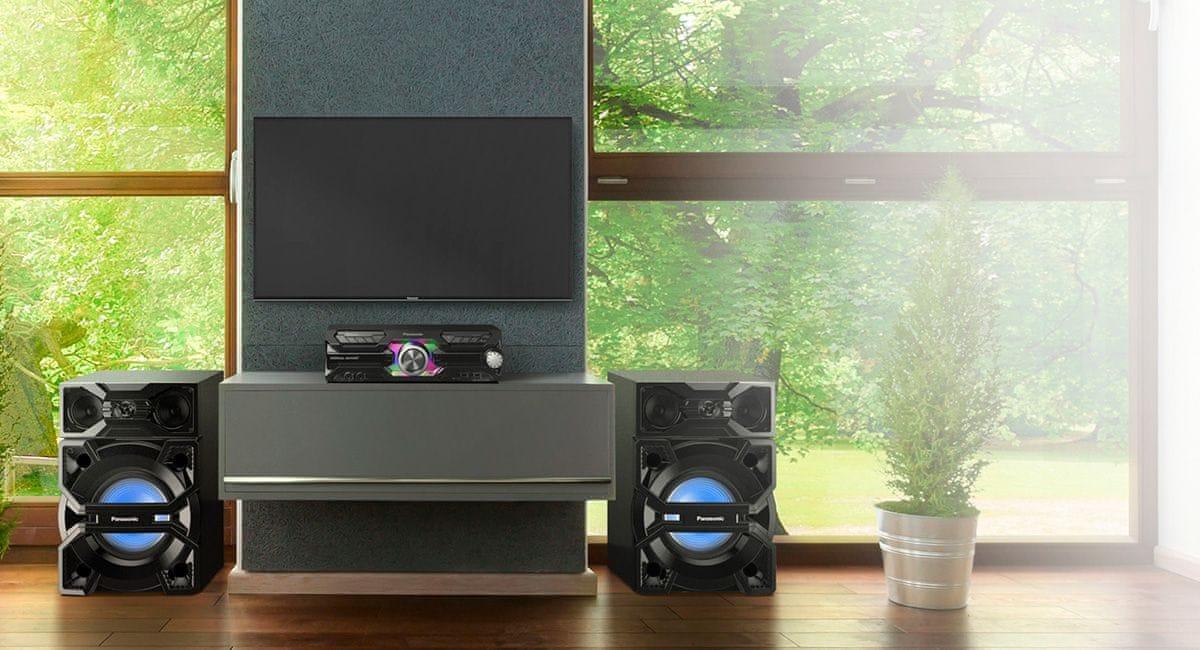 Minisystém Panasonic SC-MAX3500EK usb vstup elegantní moderní design
