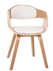 BHM Germany Konferenčná / jedálenská stolička drevená Kingdom (Súprava 2 ks), biela