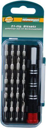 Mannesmann Werkzeug 21-delni set preciznih vijačnih nastavkov