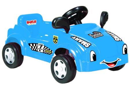 DOLU Nagy, lábbal hajtható autó dudával, kék