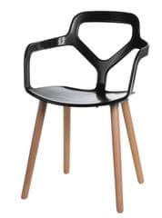 Mørtens Furniture Jedálenská stolička Noir, čierna