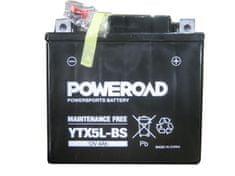 Uplus moto akumulator Poweroad YTX5L-BS (12V, 4Ah) - Odprta embalaža