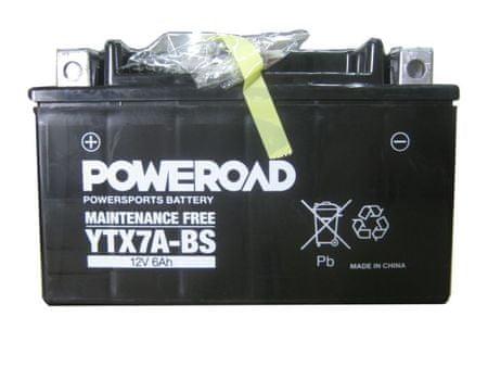 Uplus moto akumulator Poweroad YTX7A-BS