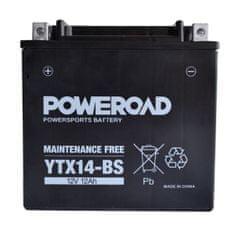 Uplus moto akumulator Poweroad YTX14-BS (12V, 12Ah, 151 x 87 x 146 mm)