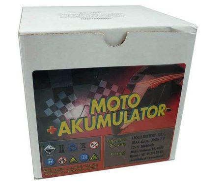 Uplus akumulator za motor Poweroad 12N5,5-4B (12V, 6Ah, 135 x 60 x 130 mm)