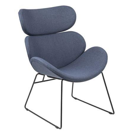 Design Scandinavia Relaxační křeslo Cesar, tm. modrá