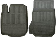 POLGUM Gumové koberce, predné, 2 ks, čierne, pre vozidlá Citroen C1, C2 a C3, Lexus RX, Mitsubishi Pajero, Peugeot 107 a Toyota Aygo