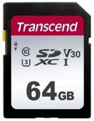 Transcend SDXC pomnilniška kartica 64 GB, 300S, 95/45 MB/s, C10, UHS-I U3, V30