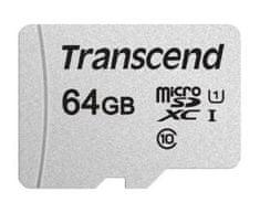 Transcend microSDXC memorijska kartica 300S, 64 GB, 95/45 MB/s, C10, UHS-I U3, V30