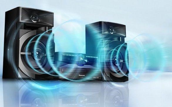 Minisystém Panasonic SC-UX100E silné basy a rezonance