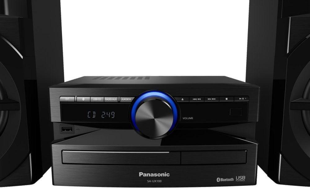 Minisystém Panasonic SC-UX100E bezdrátové připojení streamování ze smartphonu