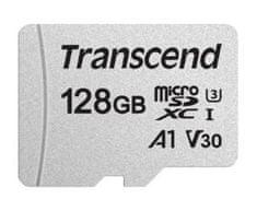 Transcend microSDXC pomnilniška kartica 300S, 128 GB, 95/45 MB/s, C10, UHS-I U3, V30