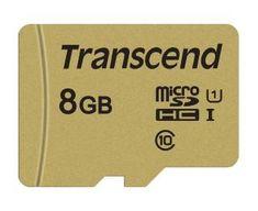 Transcend microSDHC pomnilniška kartica 500S, 8 GB, 95/60 MB/s, MLC, C10, UHS-I U3, V30, adapter