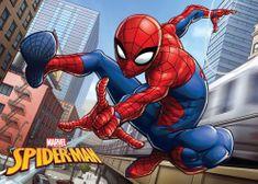 Jerry Fabrics mata łazienkowa z pianki z pamięcią kształtu Spider Man, 40x60 cm