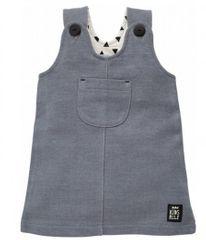 PINOKIO Dívčí šaty Happy day - šedé