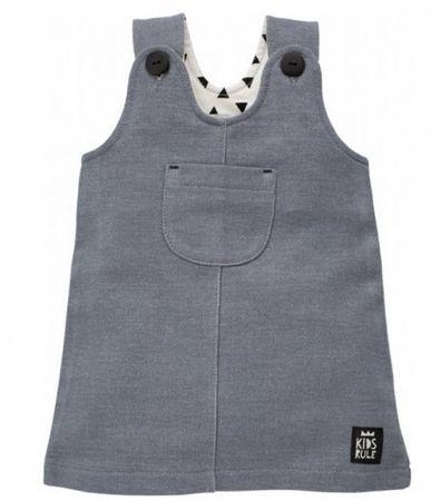 PINOKIO Dívčí šaty Happy day - šedé 62